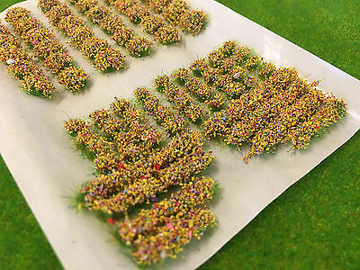 Mixed Yellow Garden Flowers Static Grass Tufts Model Scenery Railway Warhammer