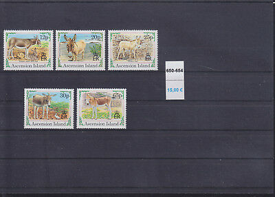 065328 Esel Donkey Ascension 650-54 ** MNH Year 1994