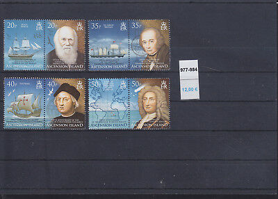 065338 Schiffe Ships Ascension 977-84 ** MNH 2006
