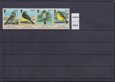 065341 Vögel Birds Ascension 1118-21 ** MNH Year 2010