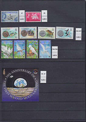 065343 Vögel Birds ... Ascension Stamps Briefmarken ** MNH - Lot
