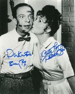 REPRINT - DON KNOTTS - BETTY LYNN ANDY GRIFFITH SHOW Signed 8 x 10 Glossy Photo
