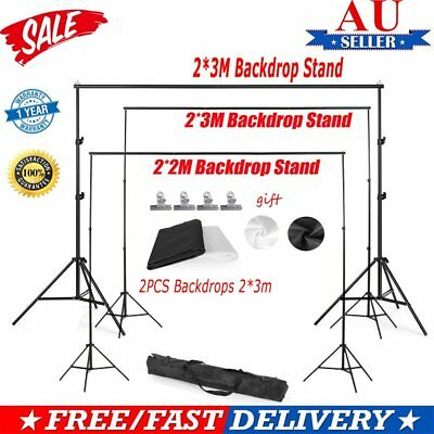 Photography Black White Backdrops Screen &Background Support Stand 2 X 2m 2x3m