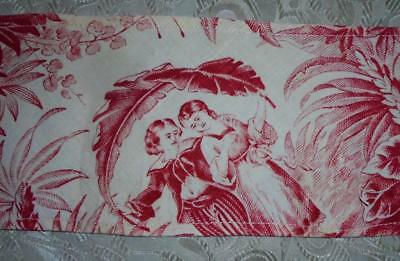 NEW AUTUMN STOCK,  MID 19th CENTURY FRAGMENT FRENCH TOILE DE JOUY 18.
