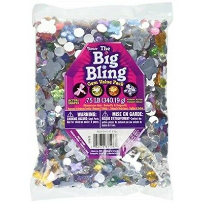 Darice Plastic Rhinestone Shapes .75lb-butterflies, Dragonflies And Round -
