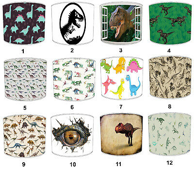 Children`s Dinosaurs Lampshades, Ideal To Match Dinosaurs Quilts & Bedspreads.