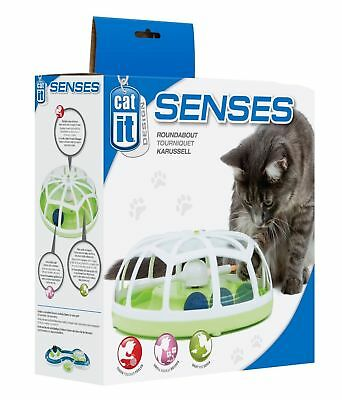 Cat It Design Electronic Roundabout Catnip Fibre Optic Ball Cat Kitten Toy