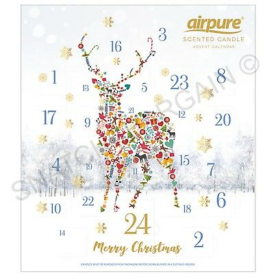 Airpure Reindeer Christmas Advent Scented Candle Calendar 2018 Edition