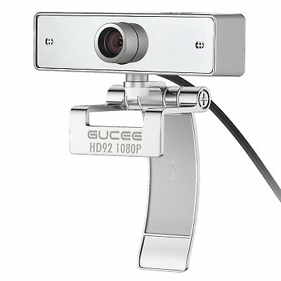 Webcam 1080P Full HD USB Web Camera with Microphone Clear Video Wide Angle New