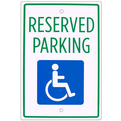 "Handicap Parking Sign – 18"" x 12"" Aluminum Warning Sign"