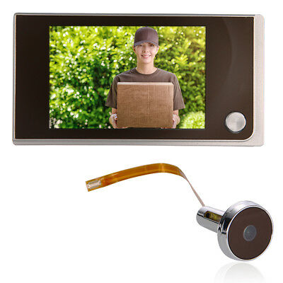 """3.5"""" Clear 120° LCD Door Viewer Peephole Security Bell Monitor Camera TH191"""