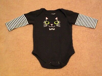 Baby Girls Faded Glory, Halloween Kitty, one piece Size 0-3M
