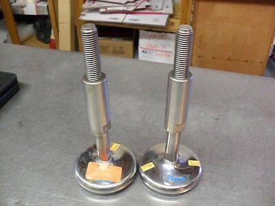 QTY 2 - SANISTAR 177313U ARTICULATING Levelers Stainless Steel Stem 3/4-10 new