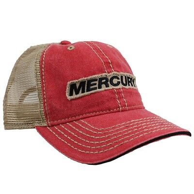 Mercury Marine Stage Cap - Faded Red / Khaki