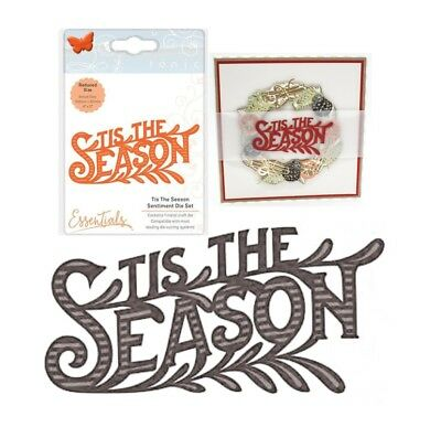 Christmas Tis the Season Words Metal Die Cut Tonic Studios Cutting Dies 2164e