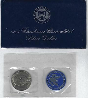 1971-S Eisenhower 40% Silver Uncirculated $1 One Dollar Coin - Sealed