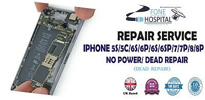 iPhone 5s6/6p/6s/6sp/7/7p/8/8p No Power Not Turning On Dead Repair Service