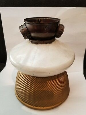 VINTAGE Industrial X-Ray Curtis Mirrored Mercury Glass Shade FIXTURE LAMP Gold