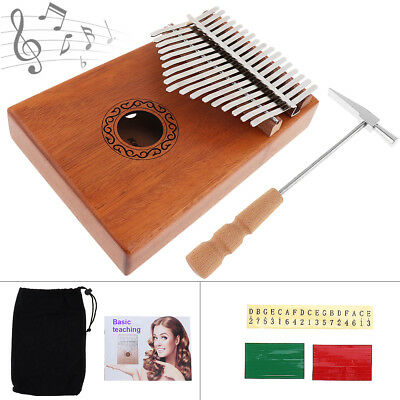 17 Key Kalimba Single Board Mahogany Thumb Piano Mbira Mini Keyboard HOT