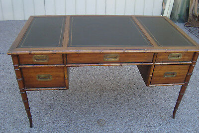59408  DREXEL Leather Top Bamboo Office  Desk