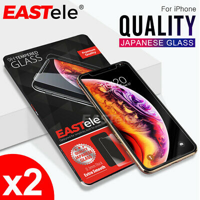 2x Apple iPhone 11 Pro XS Max XR X EASTele Tempered Glass Screen Protector Film