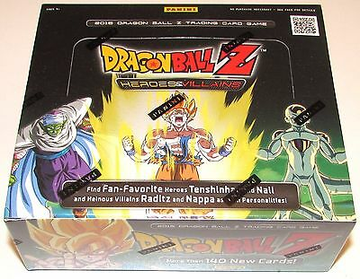 DRAGON BALL Z HEROES& VILLAINS BOOSTER BOX 24 packs 12 cards per pack NEW SEALED