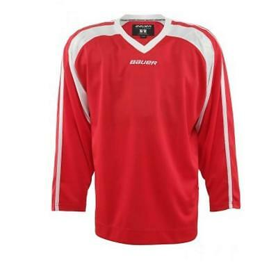 New Bauer Ice Hockey 600 Premium Jersey Practice Training Top Tee Senior rrp £40