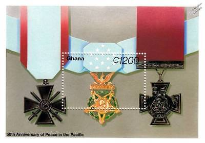 WWII Medal of Honor/Victoria Cross/Croix de Guerre Military Medals Stamp Sheet