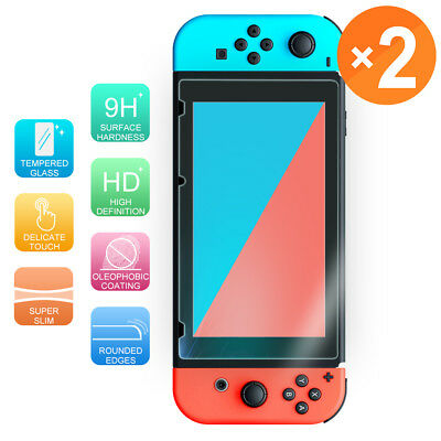 [2-Pack] For Nintendo Switch Premium Tempered Glass Screen Protector Guard