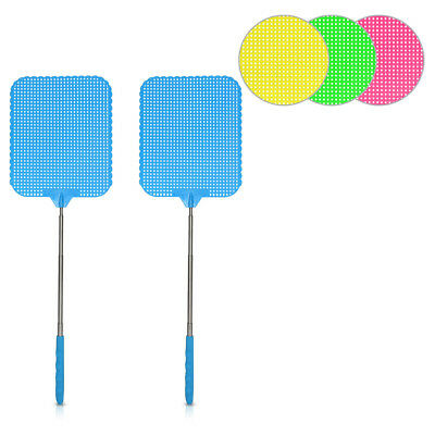 2x Extendable Fly Swatter Durable Telescopic Mosquito Bug Insect Killer