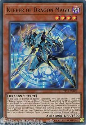 CT15-EN004 Keeper of Dragon Magic Ultra Rare Limited Edition Mint YuGiOh Card