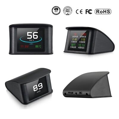 P10 Car HUD Head Up Display OBD2 EUOBD Excessive Speed Voltage Tempature Alarm