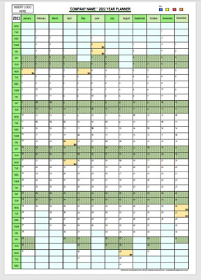 2019 Year Wall Calendar - A2 Vertical Planner - Personalised
