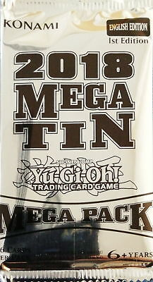 YuGiOh! Mega Tin Mega Pack 2018 1st Edition New And Sealed Booster Pack x1
