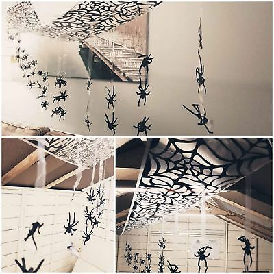 3M Hanging Spiders Spider Ceiling Hang Wall Web Halloween Decoration Cobweb 596