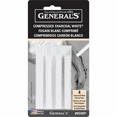 General/'s Compressed Extra Soft Charcoal /& Sanguine Sticks Crayons 9529-BP