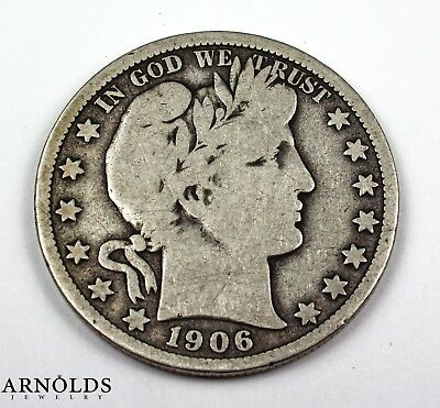 1906-O New Orleans Mint Silver Barber Half Dollar