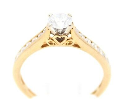 9ct yellow Gold & Diamond solitaire with accents ring, 2.3 g, valuation: $1700.0