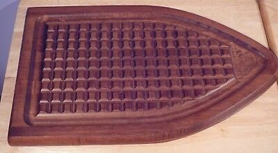 "Vintage 18"" Wood Cutting Board Baribocraft Canada Teak Turkey Roast Beef"