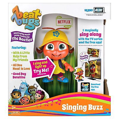 "Beat Bugs Hijinx Alive Technology 6"" Singing Buzz Toy Figure For Ages 3+"