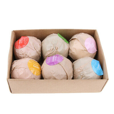 6pcs Scented Bubble Bath Bomb Salt Essential Oil Balls Set SMOOTH YOUR SKIN