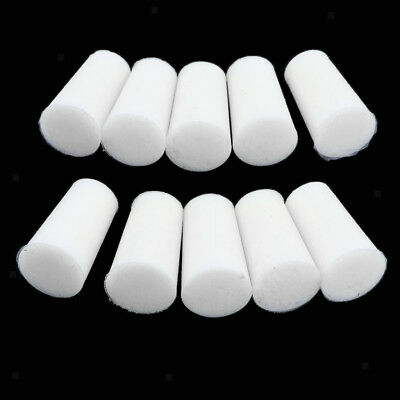 White 1 Hole Rubber Stopper Bungs for Flask Test Tubes Laboratory 8mm to 22mm
