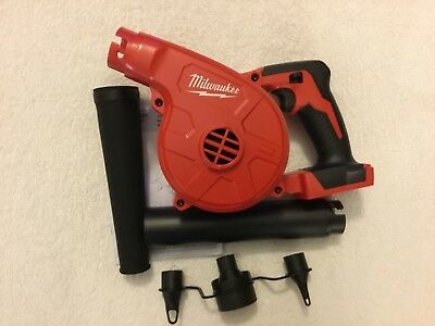 New Milwaukee 0884-20 M18 18 Volt Cordless Jobsite Blower Variable Speed 100 CFM
