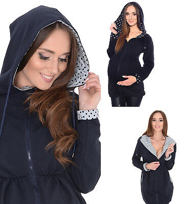 MijaCulture Comfortable Maternity casual jacket hoodie 4070
