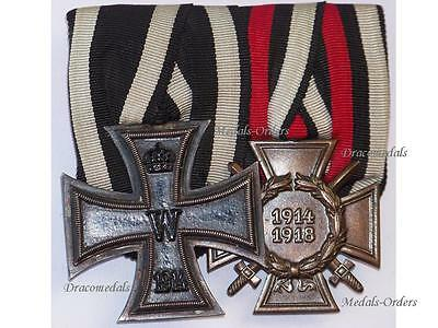 GErmany WW1 Iron Cross EK2 Hindenburg Erbe Medals WWI 1914 1918 German Military