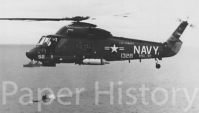 US Navy SH-2D Sea Sprite Helicopter Military 8x10 Photo Soviet Submarine Inciden