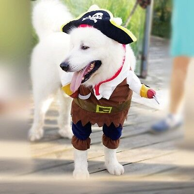 Pirate Dog Costume Halloween Pet Apparel for Dogs Sized Small to Large