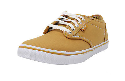 VANS Atwood Low Cheetah Golded White Lace Up Canvas Sneakers Fashion Women Shoes