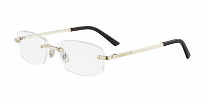 cd23eceb57 Cartier Eyeglasses Platinum CT 0086O 002 France 54mm Authentic New Frames  Rxable