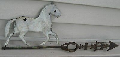 Antique Horse Weathervane On Arrow W/Bullet Holes Barn Find Vt